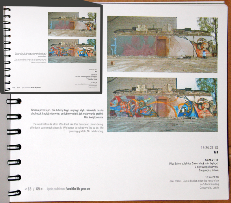 TA3, 2004 – 13:24–21:18, Photoproject book feature